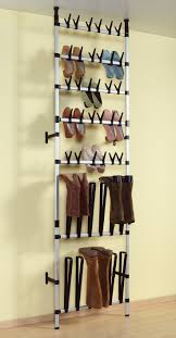 hanging shoe organizer hanging from ceiling diy shoe and boots rack ideas