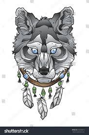 dragon dream catcher wolf head dream catcher stock vector 292328615 shutterstock