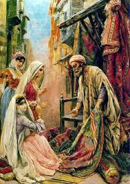 venditore di tappeti cairo paintings fabio fabbi italian painter 1861
