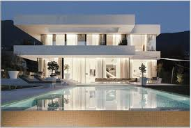 Houses With Big Windows Decor Most Captivating Modern Pool Design Idea With White House Wall