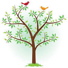 tree with birds stock vector illustration of green perch 20357625