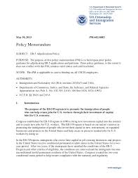 Business Letter Memorandum Example Eb 5 Adjudications Policy Memo Approved As Final 5 30 13