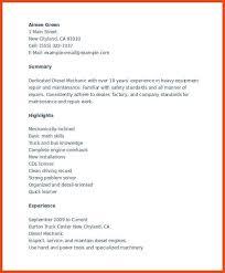 Auto Mechanic Job Description Resume by Diesel Mechanic Resume Sample Httpresumecompanioncom Resume
