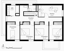 plan de maison avec 4 chambres plan maison toit plat etage élégant plan de maison avec 4 chambres