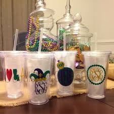 personalized mardi gras mardi gras party tumbler cup personalized monogram louisiana nola