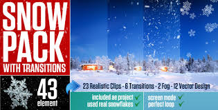 snow pack with transitions by giraysait videohive