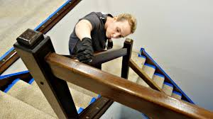 Restaining Banister Stain Banister Metal Baluster Posts Change Complete Railing