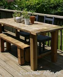 Rustic Outdoor Furniture by Rustic Outdoor Table Simple Hinge Llc