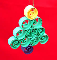 Easy Christmas Tree Decorations Funezcrafts Quilled Paper Christmas Tree Ornament