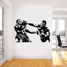 online get cheap sports wall decals aliexpress com alibaba group mike tyson wall decal sport boxing vinyl sticker dorm club home decor ideas room interior creative art mural