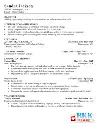 Customer Service Representative Resume Entry Level Resume Without Objective Best Free Collection For Customer Service