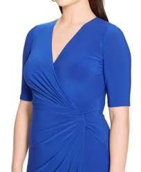 lauren ralph lauren plus size faux wrap dress dresses women