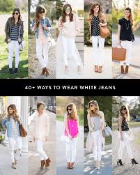 What Color Matches With Pink And Blue What To Wear With White Jeans Everything You Need To Know