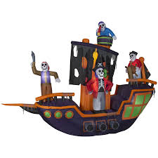 Halloween Outdoor Inflatables by Shop Holiday Living 9 12 Ft X 11 5 Ft Animatronic Lighted Pirate