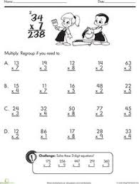 two digit multiplication multiplication worksheets and math