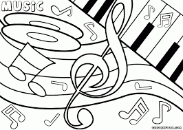 easy printable music coloring pages children 51156