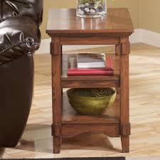 cross island sofa table signature design by ashley cross island mission chairside end table