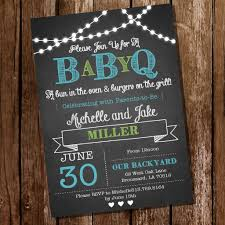 chalkboard baby q baby shower for a boy bbq baby shower