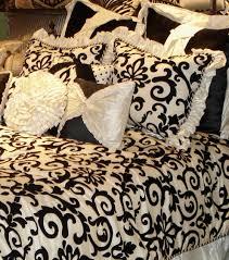 interesting pink and black damask bedding lovely decorating home