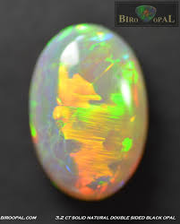 black opal 3 2 ct natural u201cdouble sided u201d semi black opal u2013 12 1 x 8 2 x 5 3