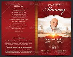 funeral program templates sle funeral program memorial service programs sle program