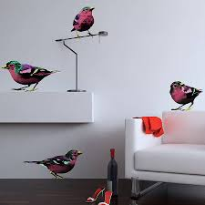 pop art wall decals shenra com pop art sparrows wall stickers by the binary box