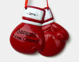 boxing ornament etsy