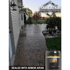 Patio Stone Sealer Review Armor Ar350 Solvent Based Acrylic Wet Look Concrete Sealer And