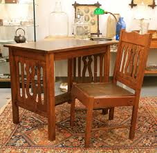 found in ithaca antique mission oak writing desk or table and