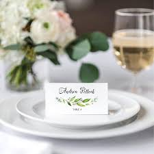 wedding tented place cards green wedding name cards printable