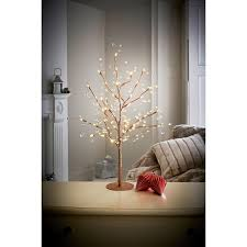 jewelled glitter twig tree 70cm chagne trees b m