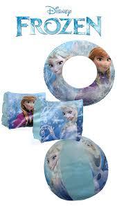 amazon com disney frozen elsa and anna 3 piece pool toy set