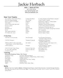Actor Sample Resume by Abigail Hardin Designs Actor Resumes