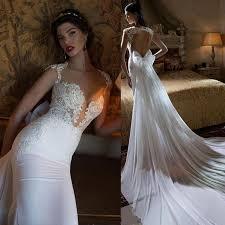 wedding dresses mermaid 2015 berta wedding dress mermaid cut out back lace beading pearls