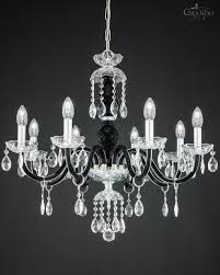 Black Chandelier Lighting by 104 8 Ch Chrome Black Crystal Chandelier With Swarovski Spectra