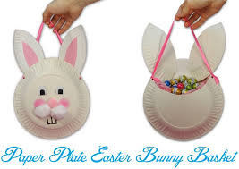 easter bunny baskets paper plate easter bunny basket