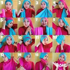 tutorial jilbab dua jilbab 8 cara memakai jilbab dua warna untuk pesta dan wisuda hijabyuk com