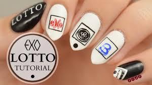 exo lotto inspired nail art tutorial n y a n tutorials