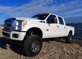 Ford Diesel Trucks Lifted - 2014 ford f 250 platinum super duty crew cab diesel lifted truck