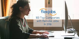 100 top companies with remote jobs in 2016 flexjobs