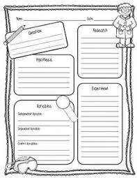 free scientific method printable worksheet for kids things we