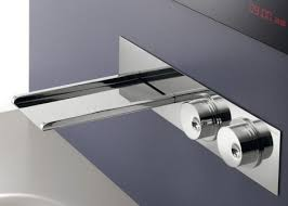 Wall Mounted Bathroom Faucet Ritmonio Clock Work Free Waterwall Wall Mount Bath Faucet Wall