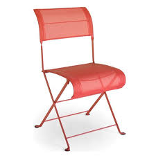 chaises fermob chaise pliante dune coquelicot de fermob