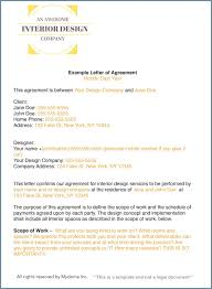 how to write an interior design letter of agreement contract