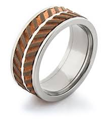 copper engagement ring titanium and copper spinner wedding ring titanium buzz
