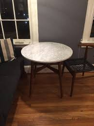 Mid Century Bistro Table Defective West Elm Marble Bistro Table Original Table Flickr