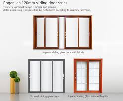 Tempered Glass Closet Doors Rogenilan Wooden Painted Aluminum Tempered Glass Interior