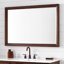 talyn mahogany vanity mirror light walnut bathroom