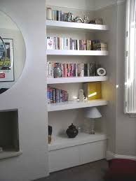 Interior Design Thesaurus Low Bookcases And Shelves Floating Shelves Alcove Wall Alcove