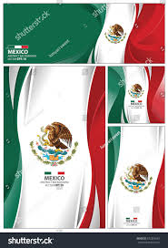 mexico flag abstract colors background collection stock vector